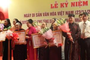Hà Nội lần đầu trao danh hiệu Nghệ nhân Ưu tú