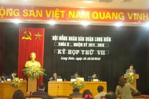 Long Biên khai mạc kỳ họp thứ 7, HĐND quận khóa II