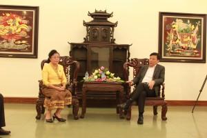 Sở Văn hoá, Thể thao và Du lịch Hà Nội tiếp đoàn Viêng Chăn (Lào).