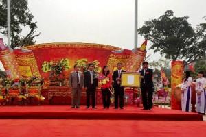 Lễ công nhận bảo vật quốc gia bức giá  tượng Lạc Long Quân