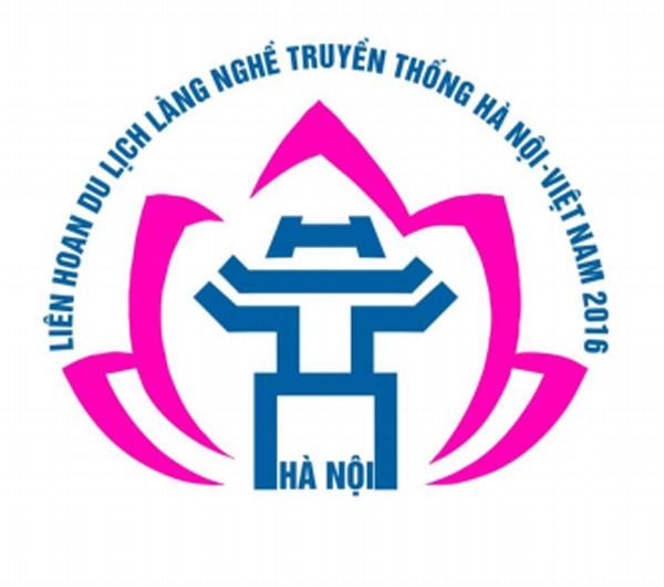 Logo của Liên hoan Du lịch làng nghề truyền thống Hà Nội - Việt Nam 2016