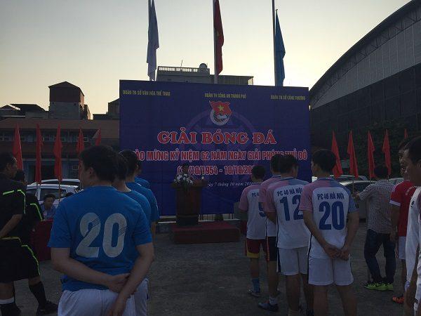Lễ khai mạc và công bố điều lệ thi đấu giải bóng đá giao hữu