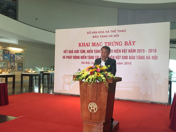 Ông Tô Văn Động, Giám đốc Sở VHTT Hà Nội
