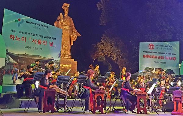 """Nghệ sĩ Hàn Quốc đã biểu diễn nhiều tiết mục đặc sắc trong Lễ khai mạc """"Những ngày Seoul tại Hà Nội"""""""