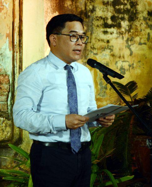 Giám đốc Sở Du lịch Hà Nội Đỗ Đình Hồng phát biểu tại buổi họp báo