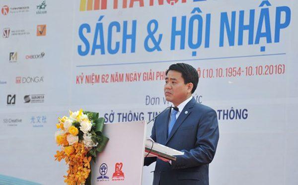 Chủ tịch UBND Thành phố Hà Nội Nguyễn Đức Chung phát biểu tại buổi Khai mạc