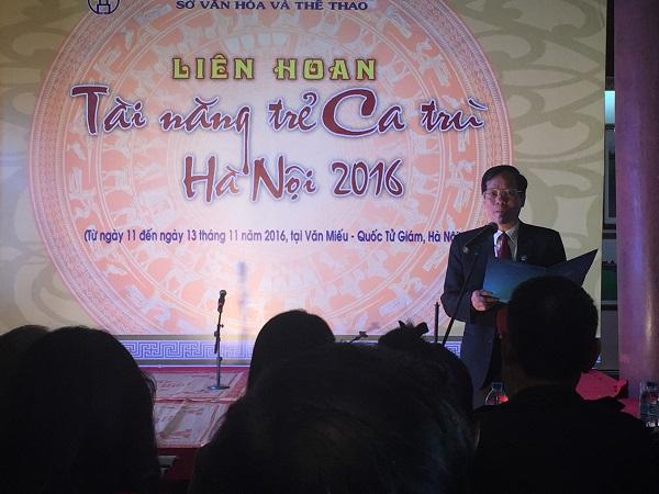 Ông Trương Minh Tiến – Phó Giám đốc Sở Văn hóa và Thể thao Hà Nội, Trưởng ban tổ chức Liên hoan