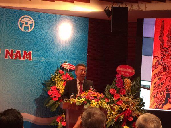 Giám đốc Sở VHTT Hà Nội Tô Văn Động phát biểu tại Lễ kỷ niệm