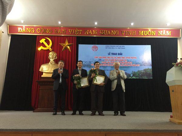 Sở VH&TT Hà Nội tặng thưởng cho những thiết kế đoạt giải