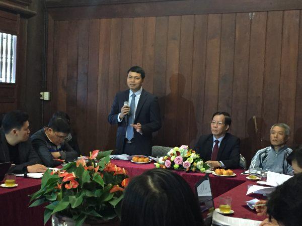 Ông Lê Xuân Kiêu, Giám đốc Trung tâm hoạt động Văn hóa khoa học Văn Miếu - Quốc Tử Giám