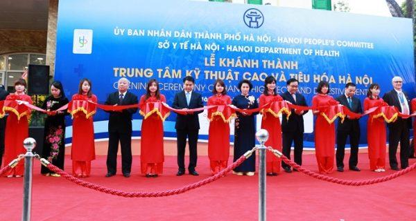 Hà Nội đã đưa vào sử dụng Trung tâm Kỹ thuật cao và tiêu hóa Hà Nội đạt tiêu chuẩn Châu Âu, phát triển nhiều kỹ thuật tiên tiến trong khám chữa bệnh