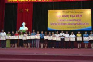 Hội nghị tọa đàm kỷ niệm ngày Gia đình Việt Nam và gặp mặt gương Gia đình công nhân viên chức lao động tiêu biểu năm 2018