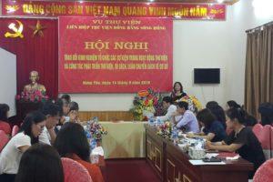 Hội nghị Trao đổi kinh nghiệm tổ chức hoạt động thư viện năm 2018