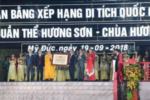 Quần thể Hương Sơn – chùa Hương đón nhận bằng xếp hạng di tích Quốc gia đặc biệt