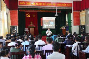 Huyện Thạch Thất tổ chức tập huấn công tác quản lý Nhà nước về gia đình năm 2018