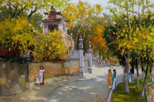 Hơn 50 bức tranh về cuộc sống và con người Hà Nội được trưng bày tại Triển lãm Hà Nội/Hà Nội
