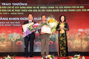 Hà Nội tổ chức trọng thể Lễ trao 02 Giải Báo chí của Thành phố lần thứ I