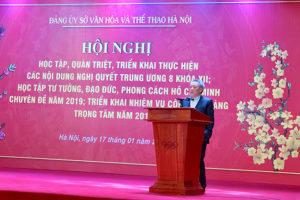 Hội nghị quán triệt, triển khai thực hiện các Nghị quyết Hội nghị TW 8 khóa XII của Đảng và Học tập tư tưởng đạo đức phong cách Hồ Chí Minh