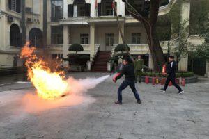 Tập huấn nghiệp vụ phòng cháy chữa cháy năm 2018