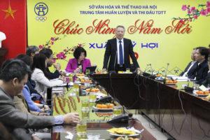 Lãnh đạo Sở thăm chúc Tết Trung tâm Huấn luyện và Thi đấu TDTT Hà Nội