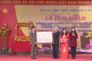 Đón Bằng xếp hạng di tích Quốc gia Đền Làng Tó