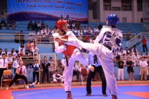 Cấp trung học cơ sở và phổ thông Hà Nội xếp vị trí thứ nhất Giải Vô địch Teakwondo học sinh toàn quốc 2019