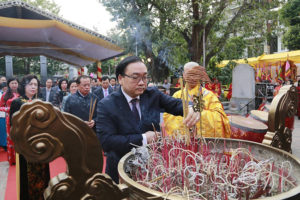 Bí thư Thành ủy Hà Nội Hoàng Trung Hải dự Lễ kỷ niệm 1979 năm khởi nghĩa Hai Bà Trưng