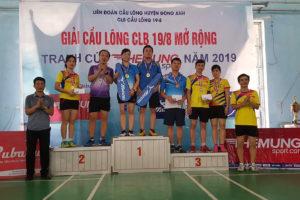 Giải Cầu lông mở rộng tranh Cúp Thế Mừng sport năm 2019