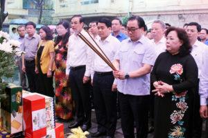 Đoàn đại biểu TP Hà Nội dâng hương tưởng niệm Tổng Bí thư Trần Phú