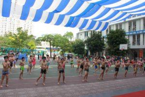 Quận Cầu Giấy tổ chức lễ phát động toàn dân tập luyện môn bơi, phòng chống đuối nước và khai mạc lớp phổ cập bơi hè 2019