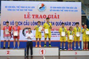 Giải Vô địch Cầu lông trẻ toàn quốc năm 2019: Hà Nội giành HCV đơn nam và đôi nam