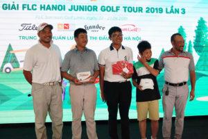 Kết thúc Giải golf FLC Hà Nội junior golf tour lần 3