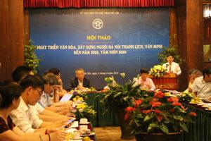 Phát huy văn hoá, xây dựng người Hà Nội văn minh là nguồn lực cho sự phát triển