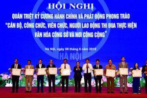 Hà Nội phát động phong trào thi đua thực hiện văn hóa công sở  và nơi công cộng