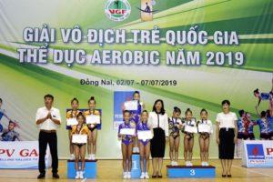 Đoàn Hà Nội đứng thứ hai tại giải Vô địch Trẻ quốc gia Thể dục Aerobic năm 2019