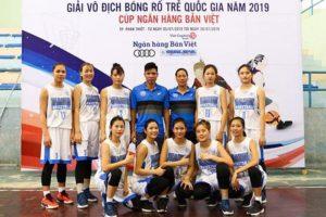 Đội nữ U17 Hà Nội vô địch giải bóng rổ trẻ quốc gia 2019