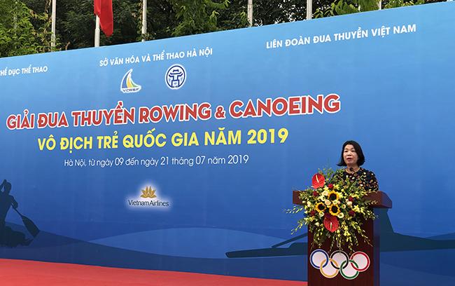 Khai mạc Giải đua thuyền Rowing & Canoeing vô địch trẻ quốc gia năm 2019