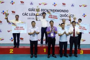 Hà Nội giành vị trí thứ hai tại giải vô địch Taekwondo các lứa tuổi trẻ toàn quốc 2019