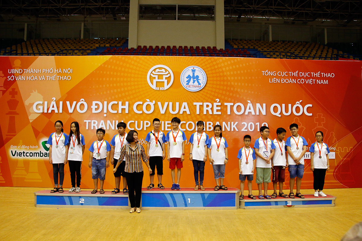 Chủ nhà Hà Nội giành vị trí nhất toàn đoàn nội dung truyền thống giải cờ vua trẻ toàn quốc 2019