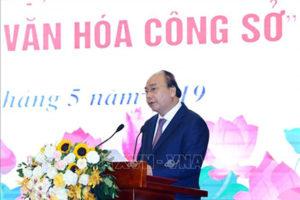 Cán bộ và người lao động ngành Văn hóa và Thể thao Hà Nội thi đua thực hiện văn hóa công sở và nơi công cộng