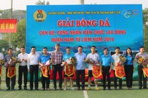 Khai mạc Giải bóng đá Cán bộ CNVCLĐ quận Nam Từ Liêm năm 2019