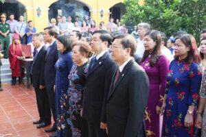 Lễ dâng hương tưởng nhớ 130 năm ngày sinh cụ Bùi Bằng Đoàn