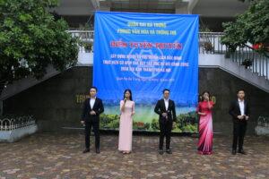 Quận Hai Bà Trưng tổ chức Điểm tuyên truyền 'Xây dựng người Hà Nội thanh lịch, văn minh',