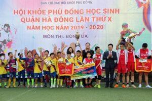 Chung kết môn Bóng đá nam Hội khỏe Phù Đổng học sinh quận Hà Đông lần thứ X