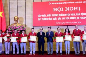 Gặp mặt, biểu dương HLV, VĐV Hà Nội đạt thành tích xuất sắc tại SEA Games 30