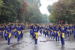 Biểu diễn võ thuật chào mừng Ngày thành lập Quân đội Nhân dân Việt Nam