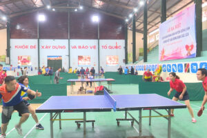 Đông Anh tổ chức Chung kết giải Bóng bàn các CLB