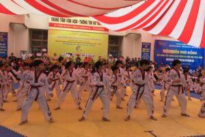 Sôi nổi giải Taekwondo quận Đống Đa mở rộng