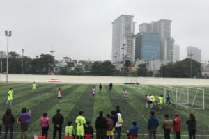 Hơn 500 vận động viên tham dự Giải Bóng đá học sinh phổ thông quận Đống Đa