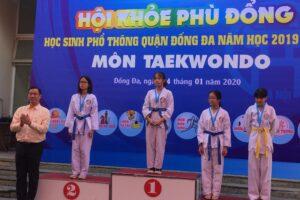Hơn 220 vận động viên dự Giải Taekwondo Hội khỏe Phù Đổng quận Đống Đa